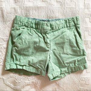 J. Crew || Green Chino Shorts